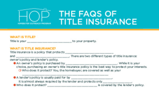 Title Insurance FAQs Worksheet-1