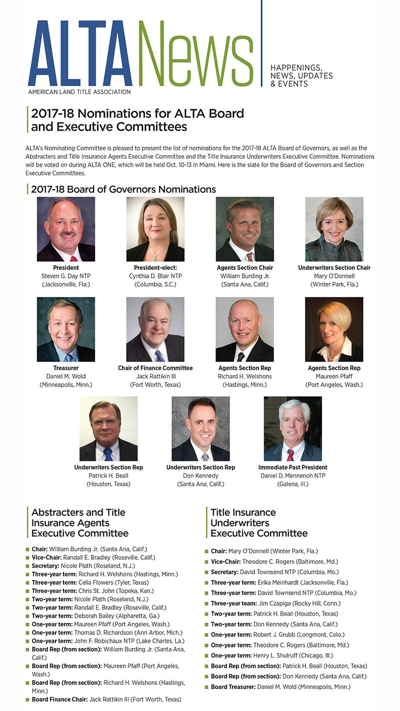 2017-18 ALTA nominations